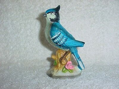 OLDER  SRI LANKA  BLUE  JAY  BIRD  FIGURINE Detailed BE