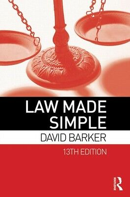 Law Made Simple (Paperback), Barker, David, 9780415641364