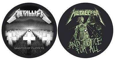 METALLICA DJ SLIPMAT FILZMATTE MASTER OF PUPPETS AND JUSTICE FOR ALL - 2er SET