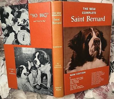 The New Complete Saint Bernard New Edition dog book 1963 ~ illustrated