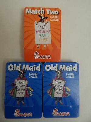 3 Chick-Fil-A Card Games Match Two & 2 Old Maid NEW in Box