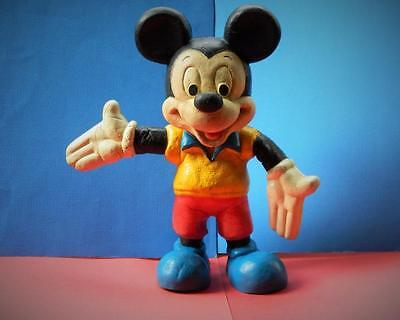 WALT DISNEY VINTAGE 1960s WHITE FACED MICKEY MOUSE BENDY TOY 9 1/2 INCHES
