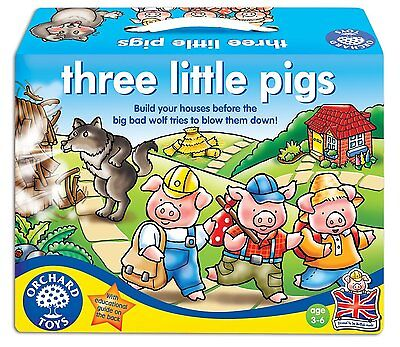 New Orchard Toys Three Little Pigs Board Game 3D Houses Educational Kids Play