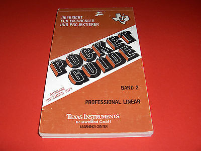 1979 Pocket Guide Texas Instruments Professional Linear Learning Center