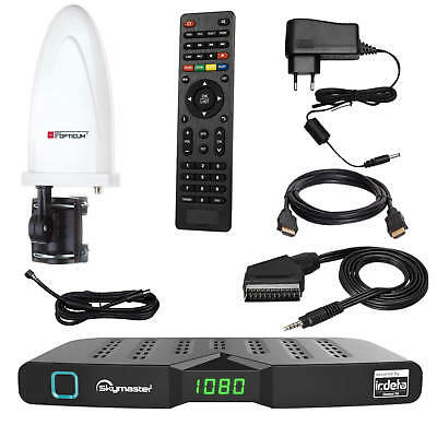 DVB-T2 Freenet TV FULL HD Terrestrisch Receiver Skymaster DTR 5000+Antenne 30dB
