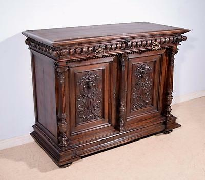 *Antique French Highly Carved Renaissance Revival Sideboard/Buffet in Walnut 2