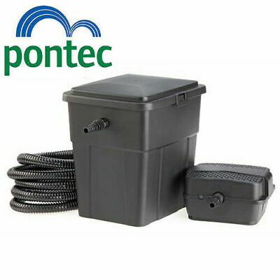 Pontec PondoClear 4000 Koi Fish Pond Box Filter / Pump / UV / Hose Complete Set