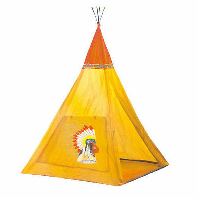 Wigwam Kids Childrens Indoor Outdoor Indian Teepee Play House Tent Den 135Cm New