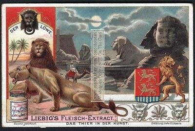 Lion Used In Egyptian Art NICE c1903 Trade Ad Card