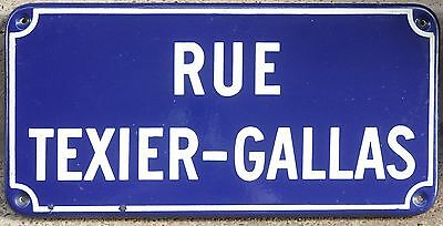 Old French enamel street road sign plaque plate Texier-Gallas - Thiron-Gardais