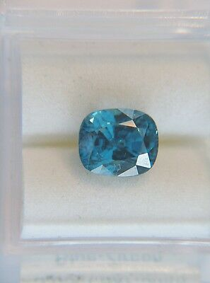 5.69ct Natural BLUE ZIRCON Cushion - Great Color