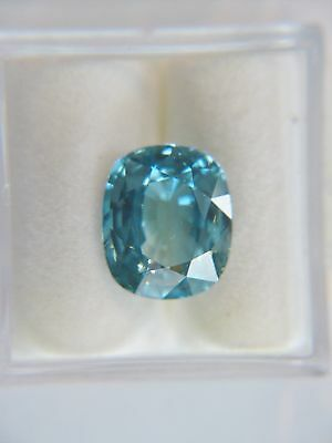 7.88ct Natural BLUE ZIRCON Oval - Great Color