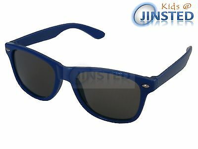 Childrens Blue Frame Sunglasses Wayfarer Kids Childs Sunnies Tinted Lens KR011
