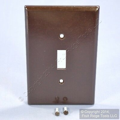 Leviton Brown JUMBO Light Switch Cover Wallplate Oversize Switchplate 85101