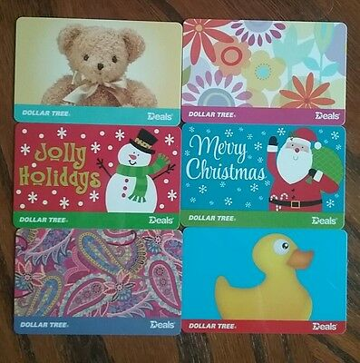 Lot of 6 Dollar Tree Gift Card Collectibles