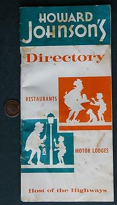 1962 Howard Johnson's Nationwide Restaurant & Hotel directory booklet-Ho-Jo's!