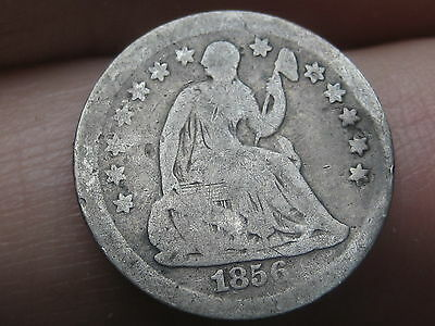 1856 Seated Liberty Half Dime- Good/VG Obverse Details