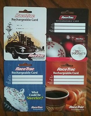 Lot of 4 Racetrac Gift Card Collectibles A