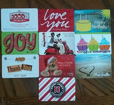 Lot of 10 Misc. Gift Card Collectibles P
