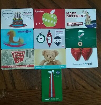 Lot of 10 Misc. Gift Card Collectibles O