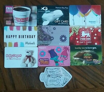 Lot of 10 Misc. Gift Card Collectibles H