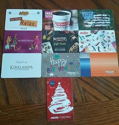 Lot of 10 Misc. Gift Card Collectibles F