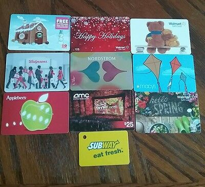 Lot of 10 Misc. Gift Card Collectibles D