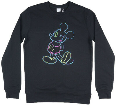 Disney Mickey Mouse Crewneck Sweatshirt Pullover Disneyland Mens