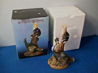 """Austin Nichols  """"wild Turkey And Bear Cubs""""   Decanter  With Box  Large Size"""