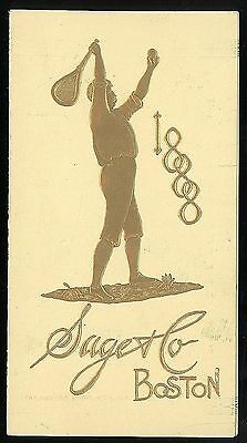 Fine Gilt Emb Boy Playing Tennis - Brochure Candee Tennis Shoes w Images 1888
