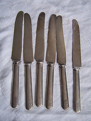 KNIFE Set WM A ROGERS & Son Warrented 12 DWT. Flatware Table Knives Silverware