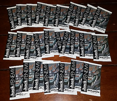 .Hack//Enemy TCG ccg - lot of 27 sealed ISOLATION booster packs from box