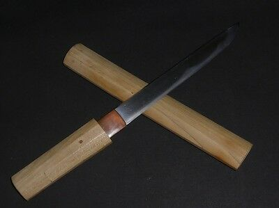 "TANTO (sword) w/White Sheath: EDO : 13.2 × 7  "" 210g"