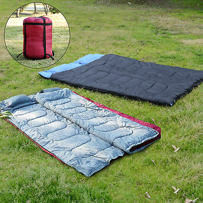 Outdoor Camping Travel Warm Double Sleeping Bag Camp Double Adult Cozy Thick