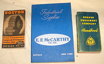 3 Vintage Industrial Supplies Catalog s McCarthy Denver Equip BOSTON Pwr Transmi