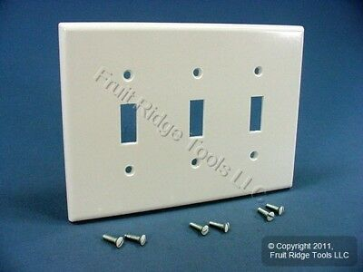 Leviton White Midway 3 Gang Light Switch Cover Plate Triple