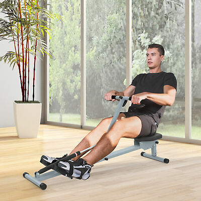Resistance Adjustable Rowing Machine Rower Glider Workout Gym Home Exercise NEW
