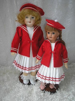 Reproduction Red Sailor Suit for 11 Inch Bleuette