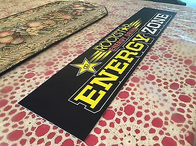 Authentic Rockstar Energy Drink ENERGY ZONE Plaque Decals Stickers Monster Rare