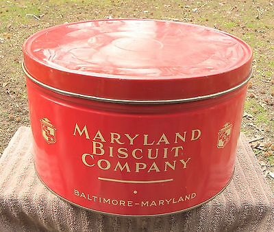 Vintage MARYLAND BISCUIT COMPANY Advertising Tin Can--not marshmallows candy