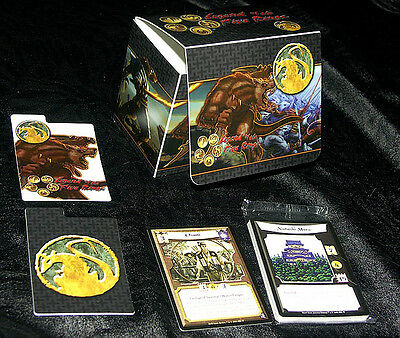 L5R Legend of the Five Rings ccg vintage RATLING premium deck box with promos