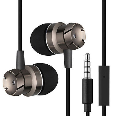 Stereo 3.5mm In ear Headphone Headset Super Bass Music Earphone Earbuds With Mic