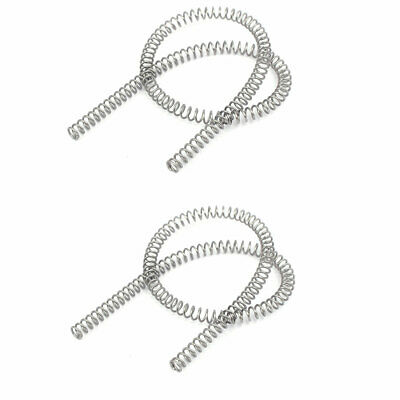 0.7mmx5mmx305mm 304 Stainless Steel Compression Springs Silver Tone 2pcs