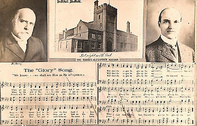 Torrey Alexander Mission Drill Hall Sheffield + Inset Of Both + Glory Song Rp