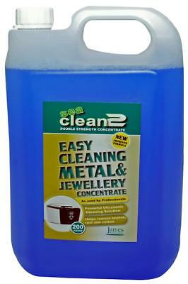 Easy Cleaning Metal & Jewellery Ultrasonic Concentrate, 5L