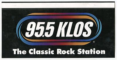 "Vintage Radio Bumper Sticker: ""95.5 KLOS The Classic Rock Station"" [L.A.]"