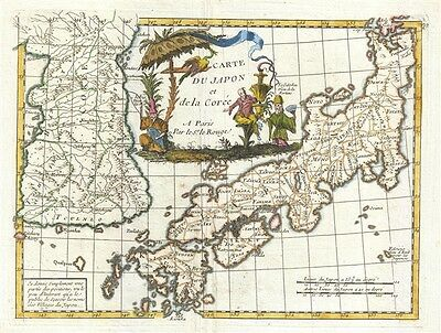 1748 Le Rouge Map of Korea and Japan