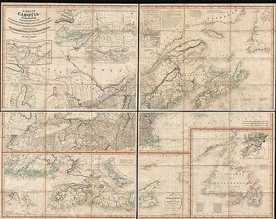 1821 Purdy Map of Cabotia (New England and Canada)