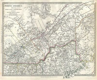 1832 S.D.U.K. Map of Lower Canada (Quebec)