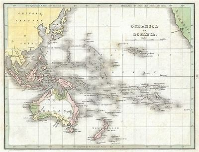 1835 Bradford Map of Australia and Polynesia